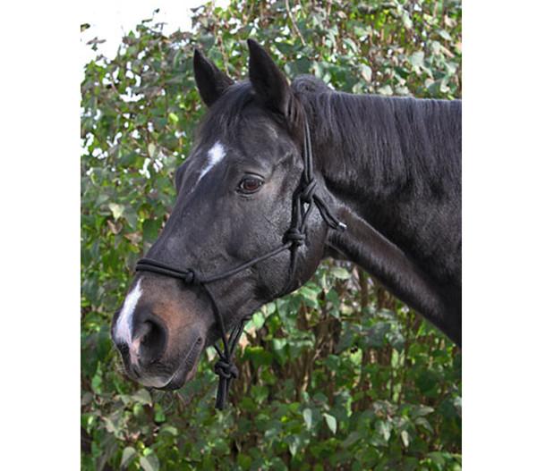 KERBL Knotenhalfter für Pferde, schwarz