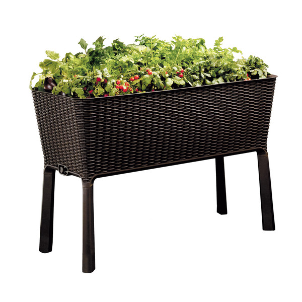 Keter Hochbeet Easy Growing, 114 x 49,3 x 75,7 cm, braun