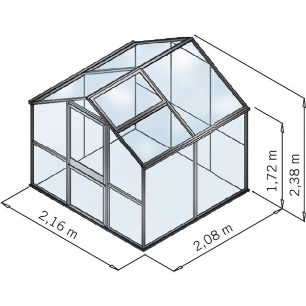 KGT Gewächshaus Galant II, ESG + HKP