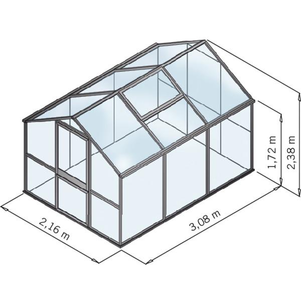 KGT Gewächshaus Galant III, HKP