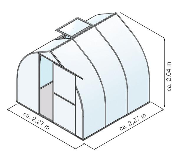 KGT Gewächshaus Rhodo III