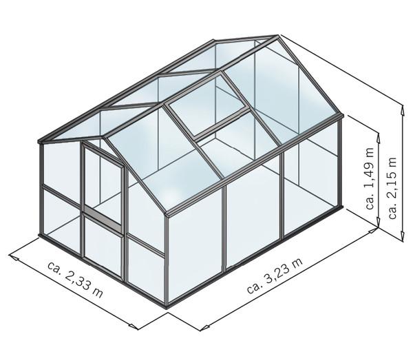 KGT Gewächshaus Rose III