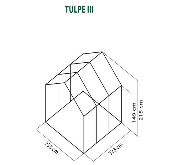KGT Gewächshaus Tulpe III