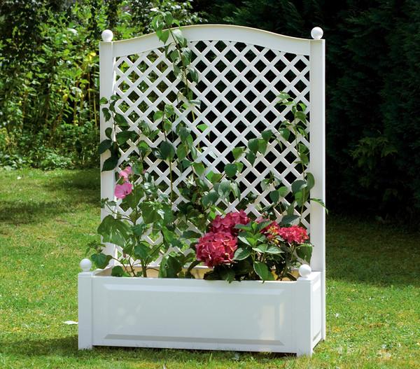 khw kunststoff pflanzkasten mit spalier 100 x 43 x 140 cm dehner. Black Bedroom Furniture Sets. Home Design Ideas