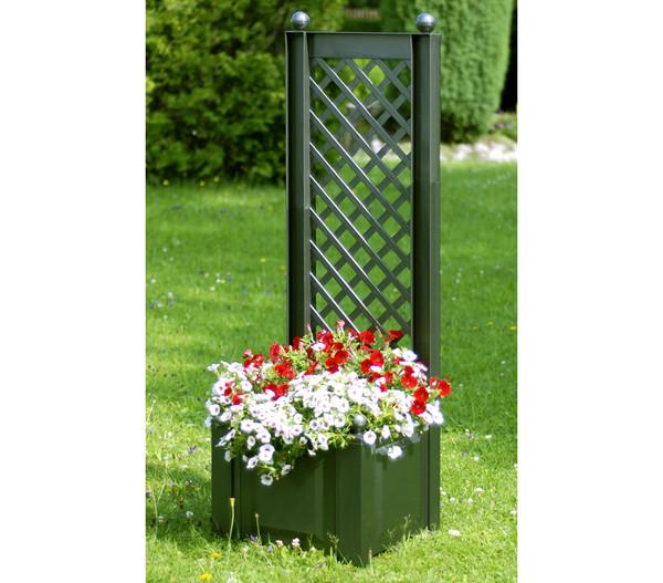 KHW Kunststoff-Pflanzkasten mit Spalier, 43 x 43 x 140 cm