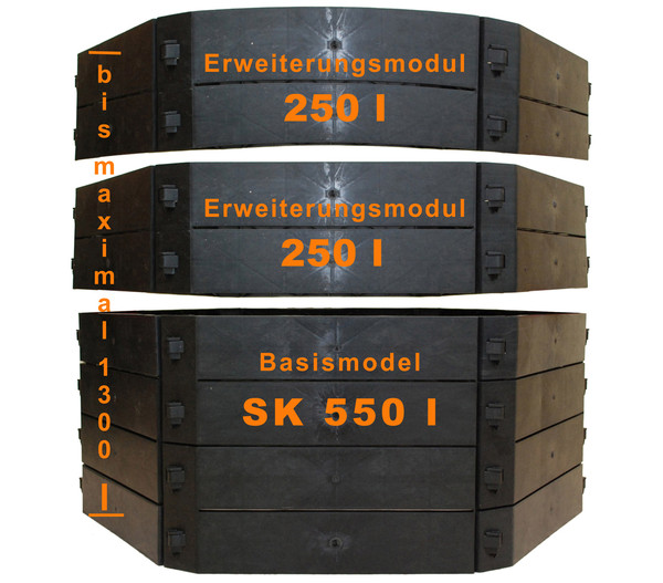 KHW Kunststoff-Schnellkomposter, 550 Liter