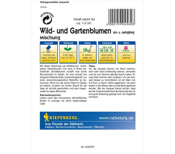 Kiepenkerl Saatgut Wild- und Gartenblumen Mix
