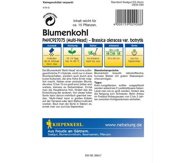 Kiepenkerl Samen Blumenkohl 'Multi-Head'