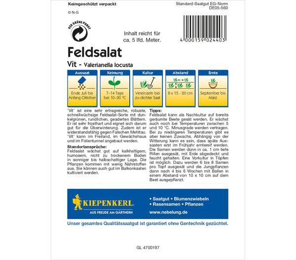 Kiepenkerl Samen Feldsalat 'Vit'