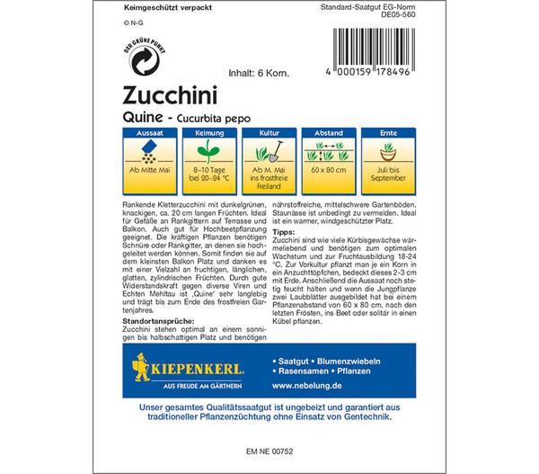 Kiepenkerl Samen Zucchini 'Quine'