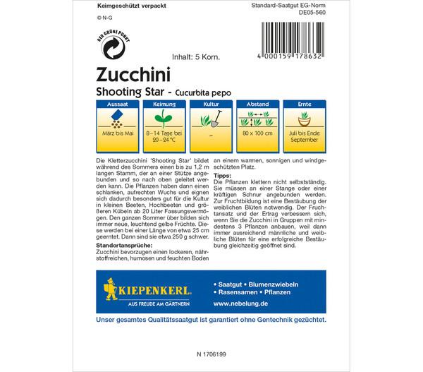 Kiepenkerl Samen Zucchini 'Shooting Star'