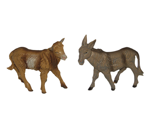 Kolbe Ochse und Esel stehend, für 10 cm Figuren