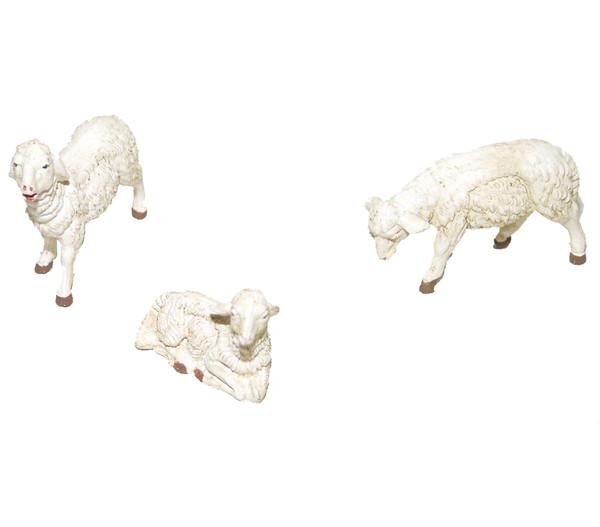 Kolbe Schafe weiß, für 12 cm Figuren, 3-teilig