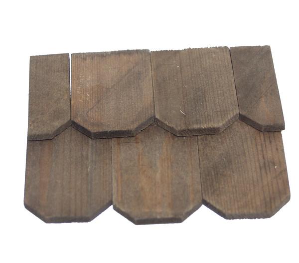 Kolbe Schindeln gebeizt, 4x6 cm und 2x6 cm, Fläche 20x52 cm