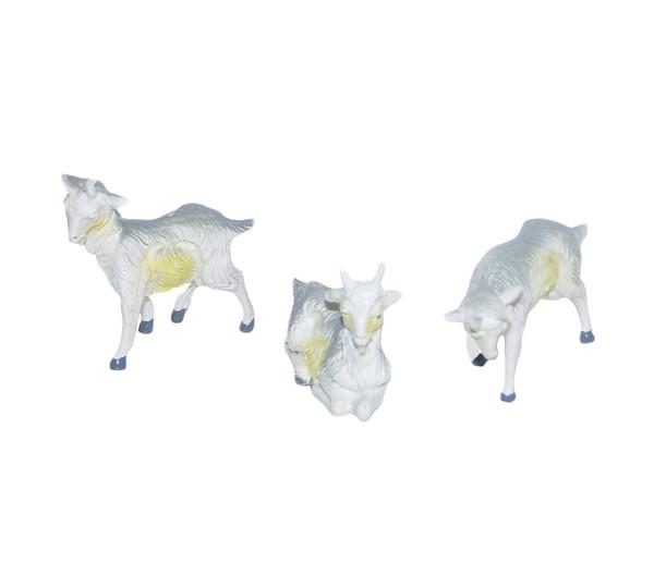 Kolbe Ziege weiß, für 12 cm Figuren, 3-teilig
