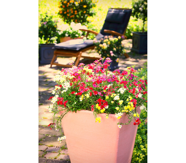 Kunststoff Blumenkübel Ken, impruneta, eckig