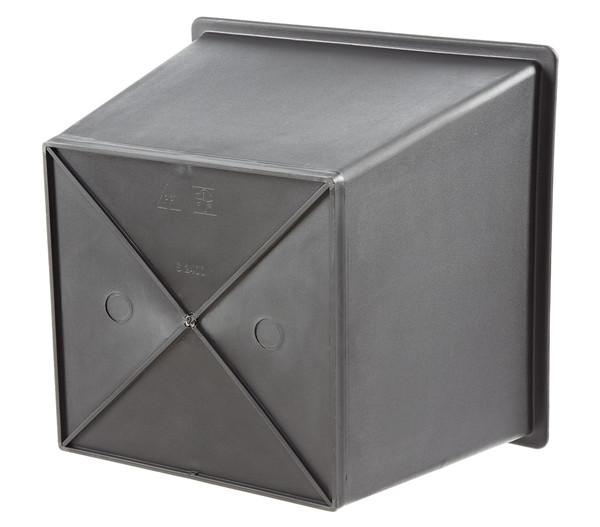 Kunststoff-Einsatz, eckig, schwarz