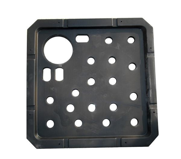 Kunststoff-Ersatzdeckel für Brunnen, schwarz, 56 x 56 x 3 cm