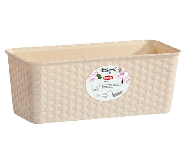 Kunststoff-Kasten in Rattanoptik