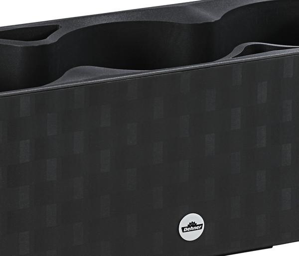 Kunststoffkasten 'Mona', mit Bewässerungssystem, Trio 14 x 40 x 14 cm