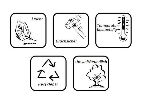 Kunststoff-Pflanzkübel Festonato, quadratisch, impruneta