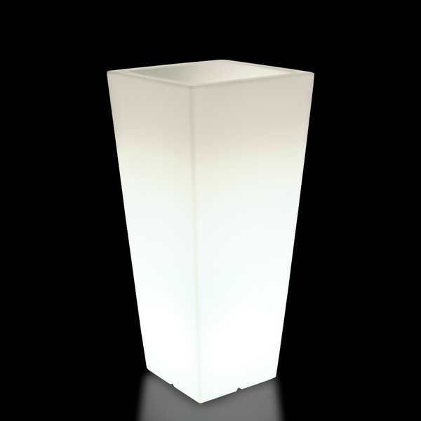 Kunststoff-Pflanzkübel Hydrus, ca. B39/H85/T39 cm, weiß