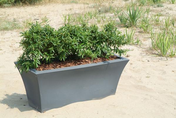 Kunststoff-Pflanzkübel Patio mit Bewässerungssystem, ca. B80/H34/T41 cm, dunkelanthrazit