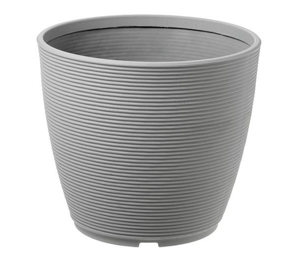 Kunststoff-Pflanztopf Urban Ring, grau