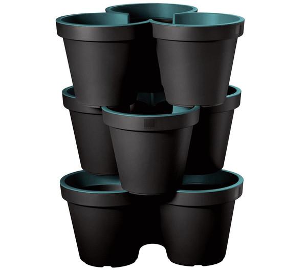 Kunststoff-Säulentopf, 3er-Set