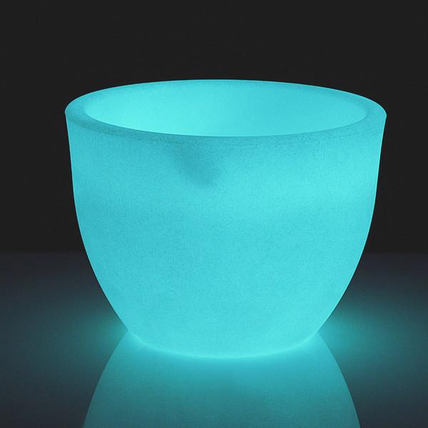 Kunststoff-Topf Orione fluoreszierend