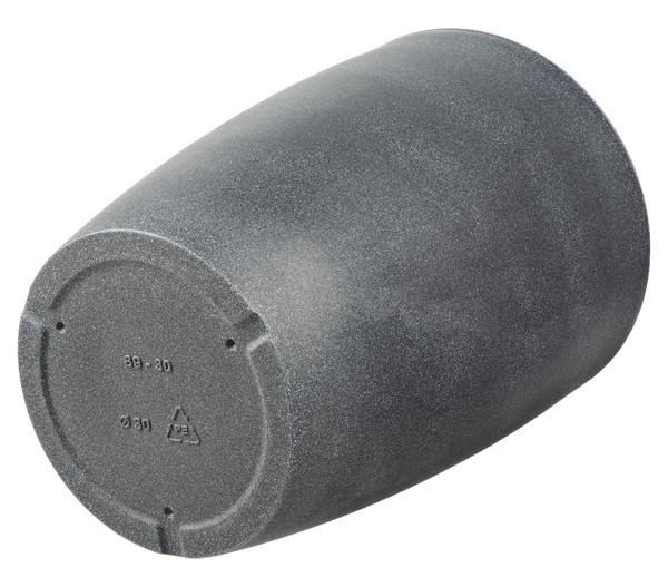 Kunststoff-Vase Verona, rund, schwarz-granit