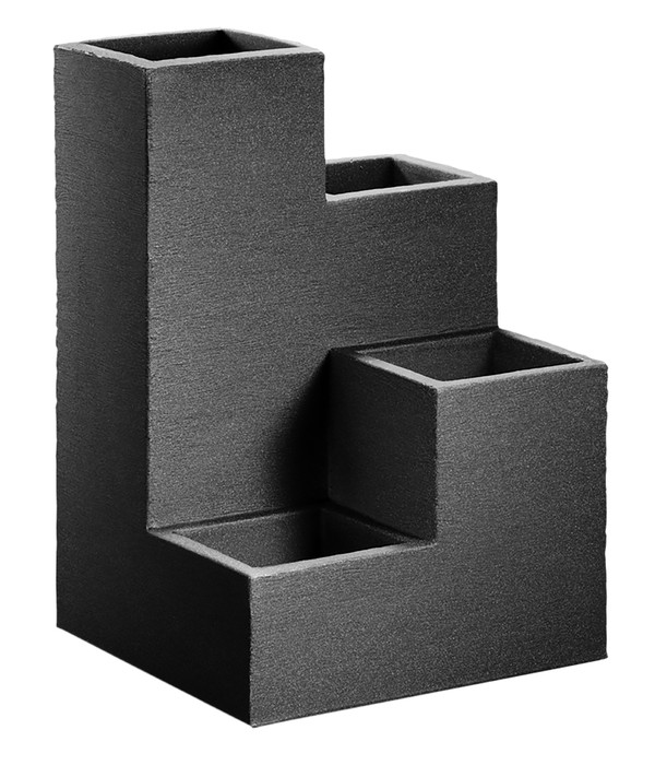 Kunststoff-Wendeltreppentopf, ca. B40/H60/T40 cm, anthrazit