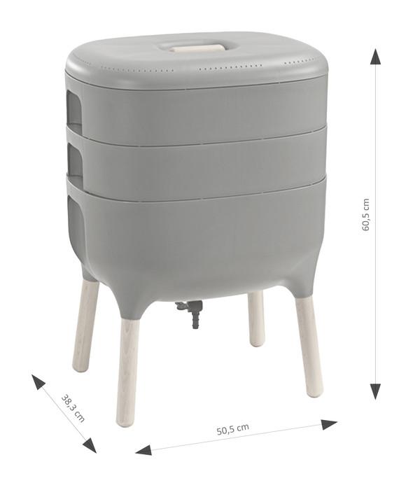 Kunststoff-Wurmkomposter, ca. B50,5/H60,5/T38,3 cm