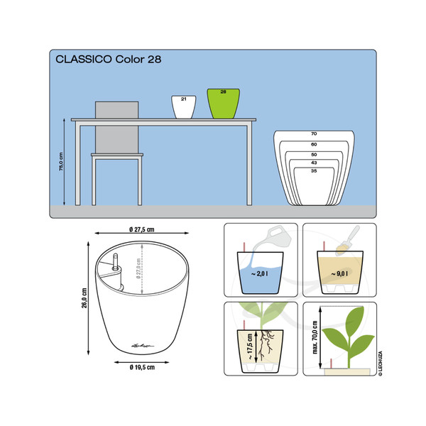LECHUZA® CLASSICO Color, All-in-One Set