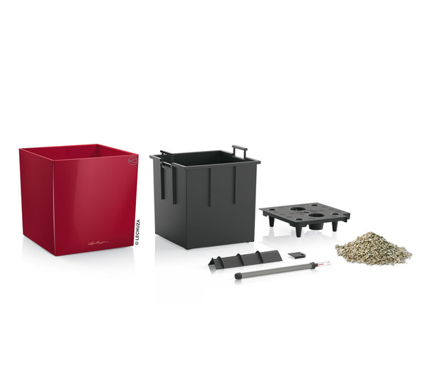 LECHUZA® CUBE, All-in-One Set, eckig 40 x 40 x 40 cm