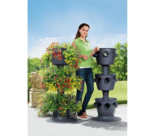 LECHUZA® Erweiterungsset 3er Pflanzturm Cascada Color