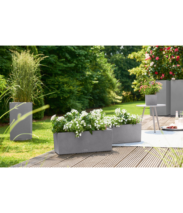 LECHUZA® Kunststoff-Balkonkasten Balconera Stone All-in-One-Set