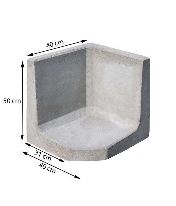 L-Eckstein, 40 x 30 x 50 cm, grau