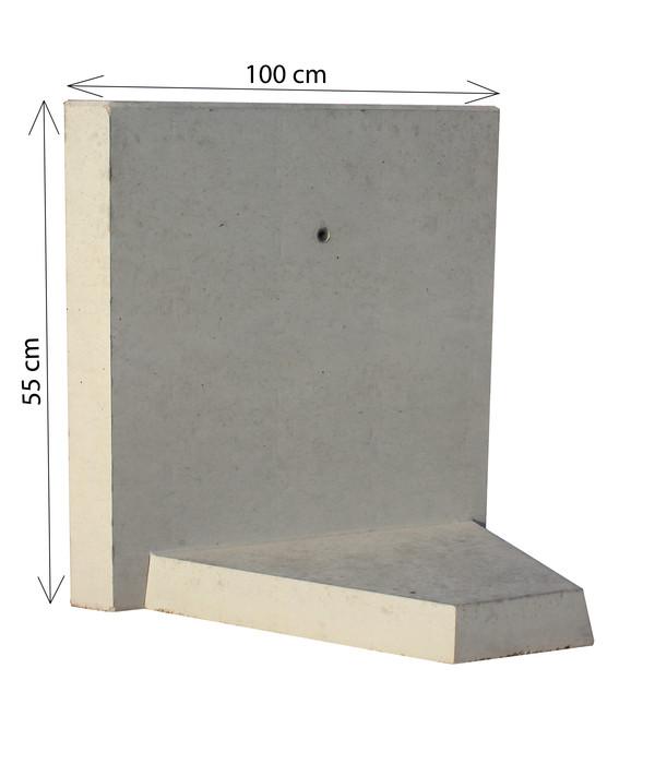 L-Eckstein Bewehrt, 100 cm, grau