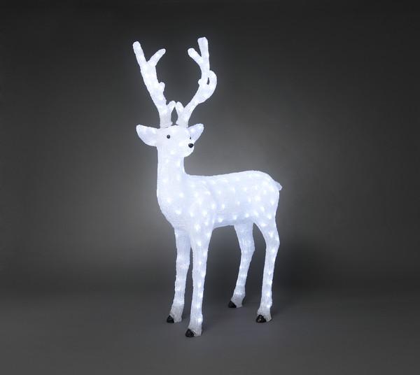LED Acryl Rentier 'Boy', 130 cm