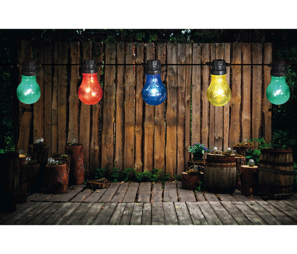 LED-Lichterkette Retro Multicolor, 10 LEDs