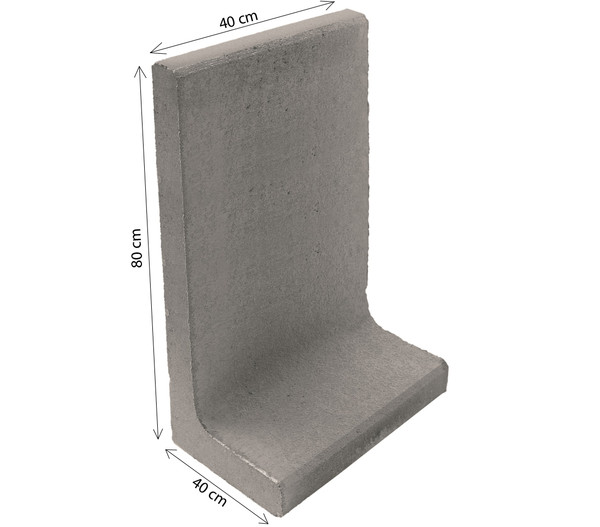 L-Stein, 40 x 40 x 80 cm, grau