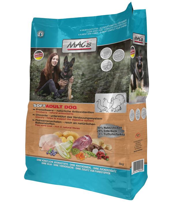 MAC's® Trockenfutter Soft Getreidefrei Huhn, Ente & Truthahn Adult