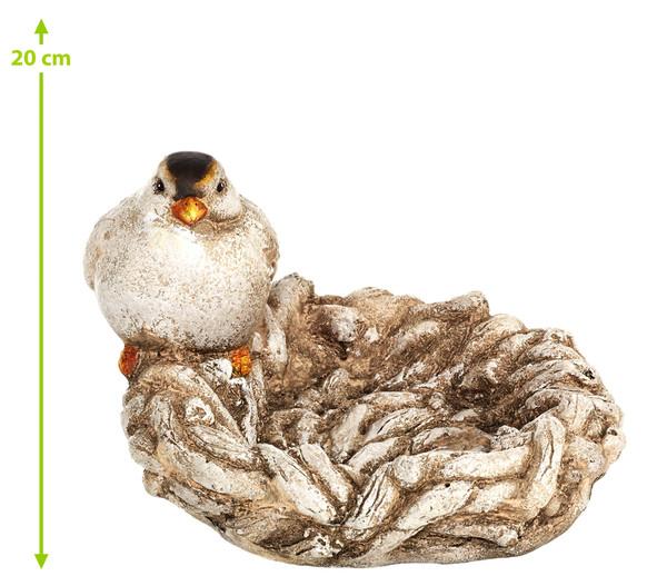 Magnesia-Vogeltränke Vogel auf Nest, Ø 25 cm