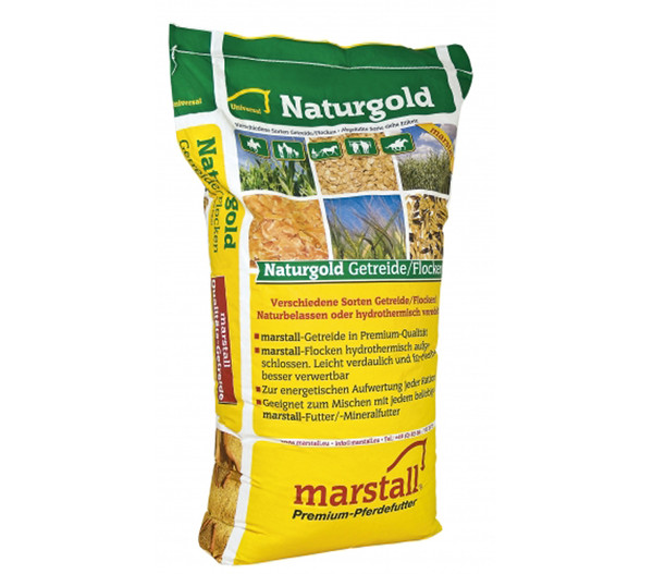 marstall Naturgold Maisflocken, Pferdefutter, 20 kg