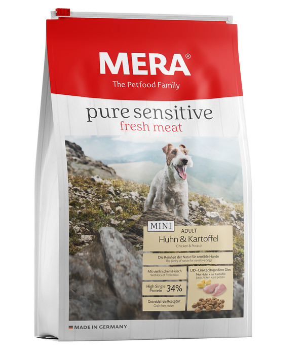 Mera Trockenfutter Pure Sensitive fresh meat Mini, Huhn & Kartoffel, 4 kg
