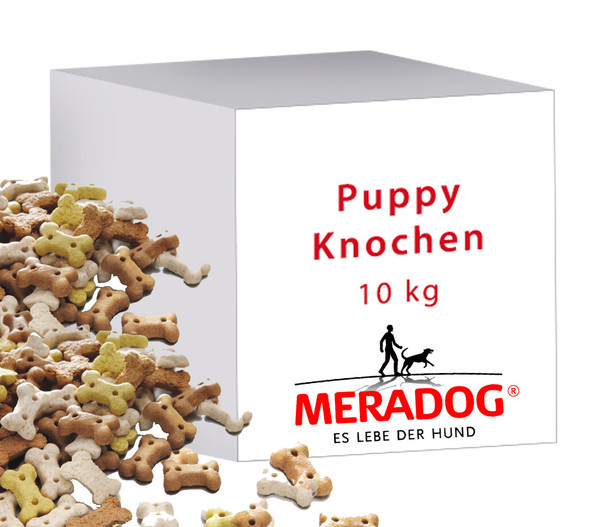 Meradog Puppy Knochen, Hundesnack, 10kg