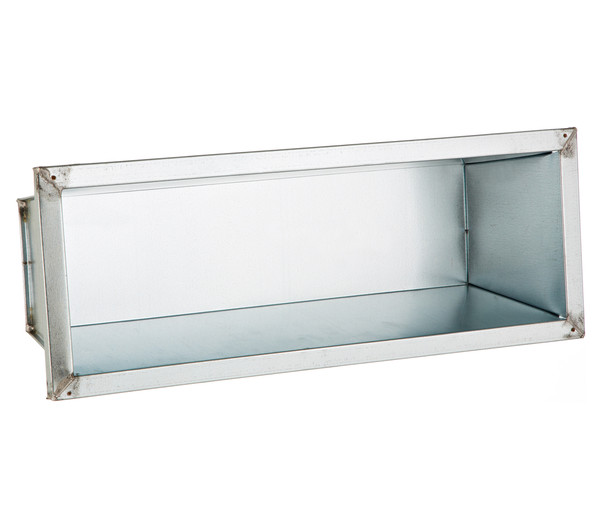 Metall-Kasten verzinkt, silber, 50 x 17 x 13 cm