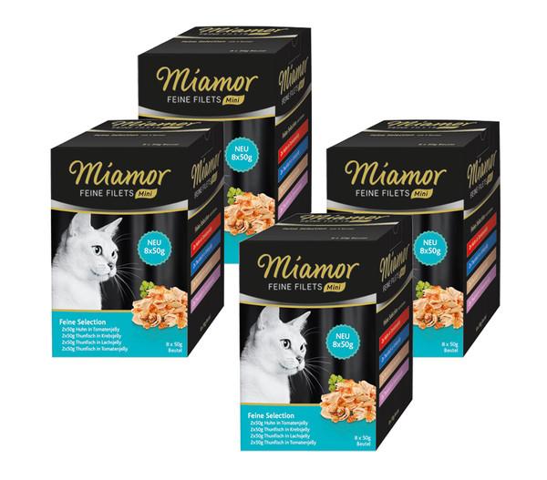 Miamor Katzensnack Feine Filets Mini Feine Selection Multipack, 32 x 50g