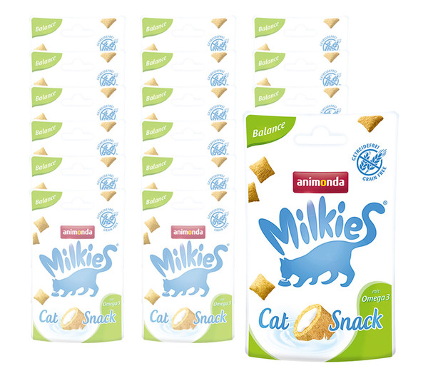 Milkies® Katzensnack Knusperkissen, 12 x 30g